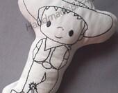 DoodleIts - Doodle It - Cowboy - Washable Softie - Plushie