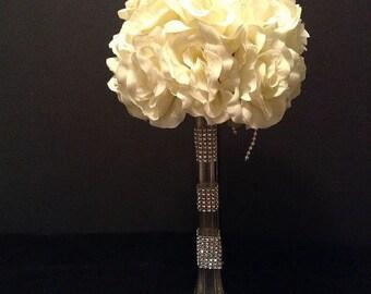 Wedding Centerpiece, Banquet Flowers, Reception Flower Centerpiece, Tall Flowers, Silk Flowers, Artificial Flowers, Eiffel Tower