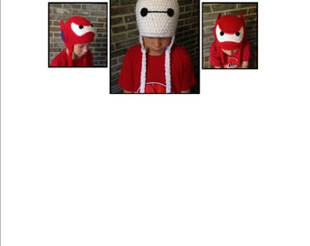 Baymax, Big Hero 6, crochet hat **PATTERN ONLY**  2-in-one