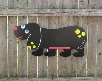 Child's Chalkboard, Black Dog, Vintage Blackboard, Cartoon Chalkboard, Fun Wall Decor, Life Size Dog, Childrens Gifts, Child's Bedroom