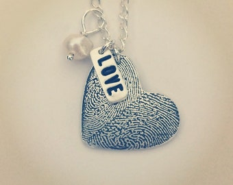 Small - Double Fingerprint Necklace