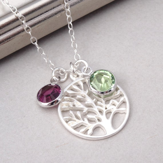 Mothers Necklace Birthstone Necklace Family Necklace