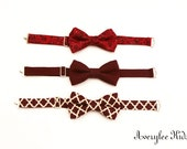 Boys Bow tie, Toddler Bow Tie, Marsal, Burgundy, Plum, Wine Bowtie, Wedding Ring Bearer, Infant Bow Tie, Bowties, Suit and Tie