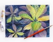 Botanical Art, Botanical Painting, Longwood Gardens, Watercolor Plants, Purple and Green, Landscaping, Plant Illustration, Watercolor Art