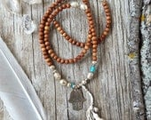 Hamsa necklace - boho chic - yoga necklace - hand of fatima jewelry - hand jewelry