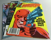 Set of 3 Vintage Daredevil Comic Books, No. 184, No. 188, and No. 191, July, November 1982, and February 1983, Marvel Comics