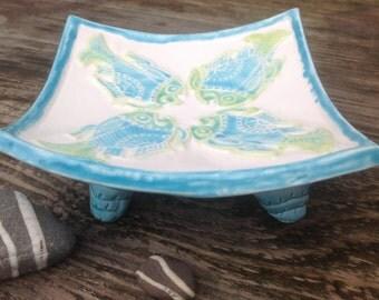 Pottery Soap Dish Handmade Bathroom Ceramic Made in UK - Ready to Ship