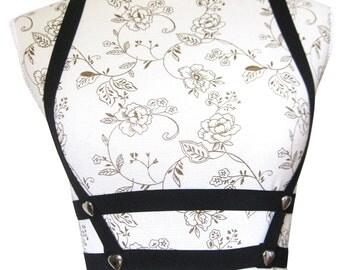 Body Harness Cage bra hearts underbust full adjustable