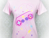 Player 1, Start! Retro Videogame Controller Graphic T Shirt Kawaii Fairy Kei Pastel Goth