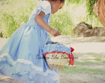 Wizard of Oz Inspired Dorothy Picni Basket. Pageant Play Costume Halloween Birthday Accessory. Photo shoot prop