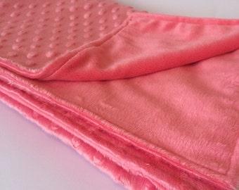 Minky Blanket, Pink Baby Blanket, Minky Baby Blanket, Baby Bedding, Baby Blanket, Baby Girl Gift, Baby Shower, Nursery Bedding, Baby Girl