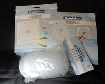 Kumihimo Braiding Kit - Round and Square Surface, 8 Bobbins, Instructions