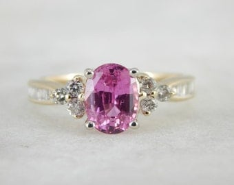 Pink Ceylon Sapphire Ring Of Excellent Quality R863W6-P