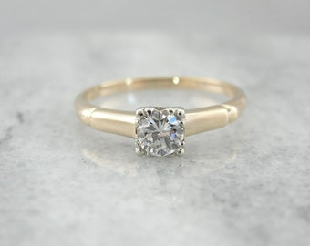 Refined Vintage Engagement Ring With Excellent Diamond LPPF9T-P