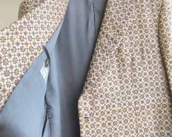 Mens jacket pure silk/%100 indian pure silk jacket 1950s/1950s mens jacket