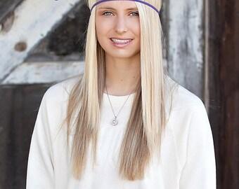 Purple Boho Headband - Forehead Headband - Boho Headband - Bohemian Headband - Forehead Headband - Hippie Headband - Adult Headband - Halo
