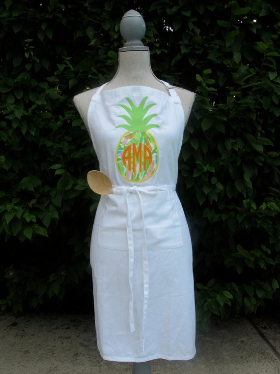 lilly pulitzer pineapple applique monogrammed 100  cotton