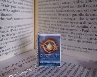 Collana miniatura libro Divergent - Veronica Roth book necklace