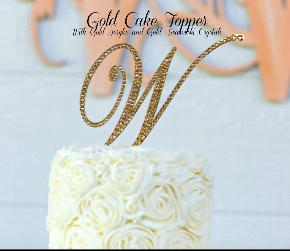 gold cake toppers for wedding cakes gold wedding cake topper gold monogram cake topper 14749