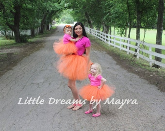 Mommy and me tutu your choice of color - Mother and daughter outfit - Mommy and me costume