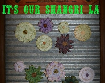 Vintage Paper Green & Purple Magnets,Office Magnet Accessories,Party Favors,Gift Basket filler,Fridge Magnets,Tearchers gifts,Boss/Secretary