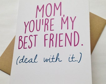 Mom Card - Mother's Day Card - Mom Birthday Card - Funny Mom Card - Card for Mother - Mother's Day