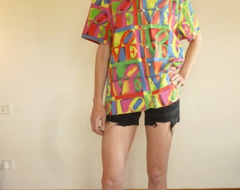 Versace Love shirt, iconic 90's pop art