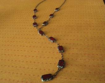 Red drop necklace