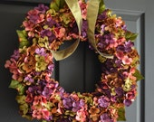 Beautiful Wreaths | Blended Hydrangea Wreath | Summer Wreaths | Front Door Wreaths | Spring Door Wreath | Housewarming Gift | Door Decor
