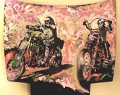 Metal Wall Art Large Wall Art Harley Davidson Art Easy Rider by Matt Pecson Motorcycle Art Man Cave Art Pop Art Painting Acrylic Painting