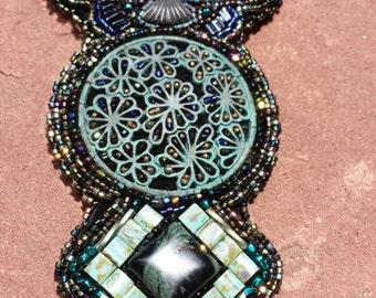 Ravens flight native american inspired beadwork by Beadworkdreamsraven