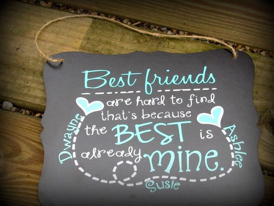 Personalized best friend sign bff gift bestfriend gift best - Bff geschenke ...