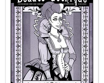 Victorian Beauté Gothique Vintage Art [ Print ] - by Denis Caron ( L.A.W.L.S. ) - Corvink
