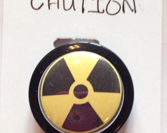 Radiology Symbol Badge Reels, nuclear radiation hazard Badges Holders,Tech, CT x-ray warning machines,Nurse gift
