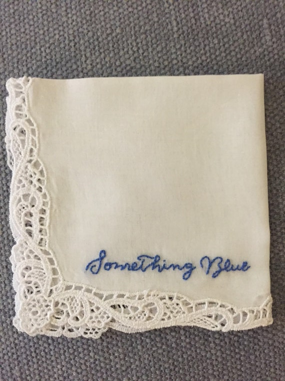 Wedding Gifts For Bride Something Blue : Something Blue Wedding Hanky, For The Bride, Bridal Shower Gift ...