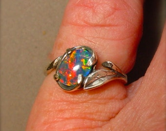 perfect opal engagement ring or opal wedding ring genuine. Black Bedroom Furniture Sets. Home Design Ideas