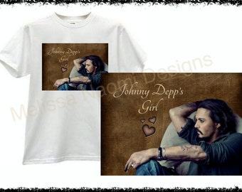 Johnny Depp T-Shirt, 100% Cotton Shirt, Original Design, Can Be Customized With Your Name, Actor Johnny Depp Shirt, Johnny Depp's Girl, Art