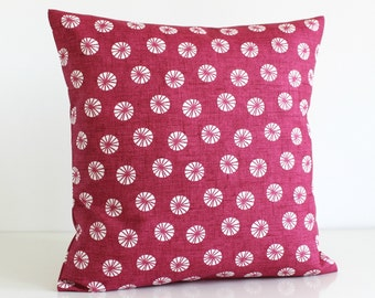 Decorative Pillow Cover, Cushion Cover, 16 Inch Pillow Case, 16x16 Throw Pillow cover, Pillow Sham - Fossil Raspberry