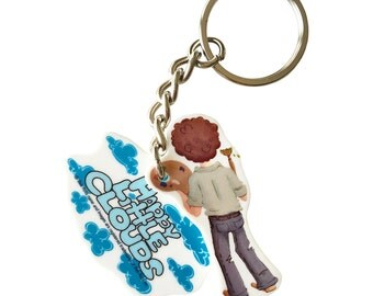 Bob Ross Keychain - Happy Clouds - Officially licensed product.