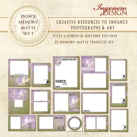 dance memory mate photo templates photoshop templates photo. Black Bedroom Furniture Sets. Home Design Ideas