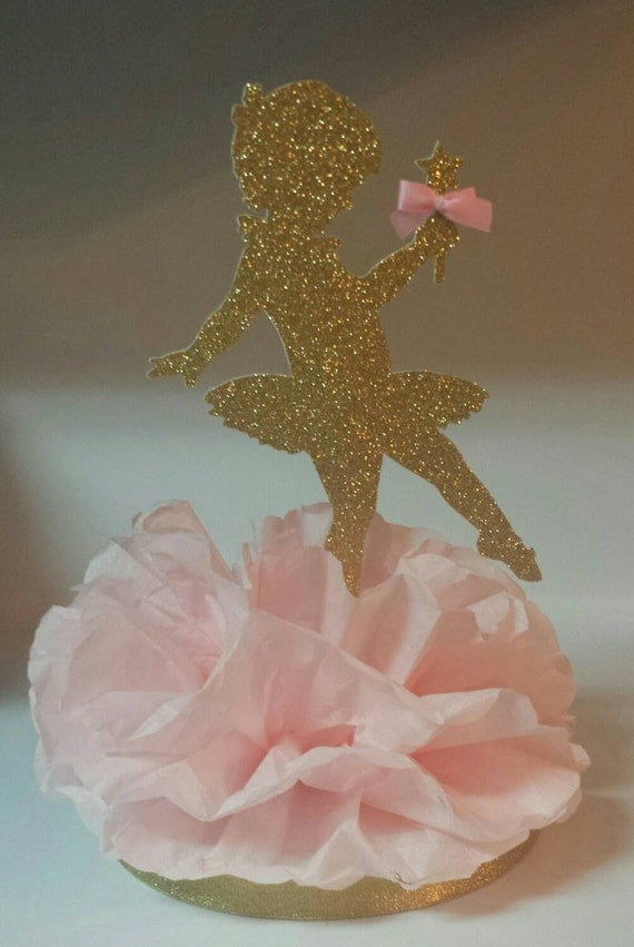 Gold glitter ballerina birthday party or baby shower for Dekoration fur babyparty