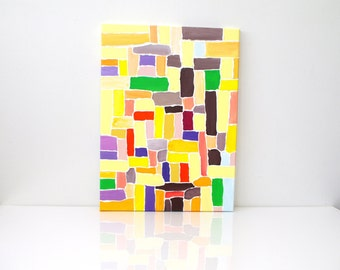 Abstract geometric painting Abstract canvas art Geometric original art painting Original abstract painting - geometrical painting on canvas