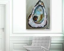 Oyster Shell, Oyster Shell Print, Coastal Art, Seashell, Oyster Painting, Print of Painting, Beach House Decor, Oyster Decor, Coastal