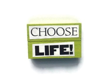 CHOOSE LIFE | Fridge Magnets | Set Of 2 | Green | TRAINSPOTTING | Home Decor | Office magnets | Recycled Gift |