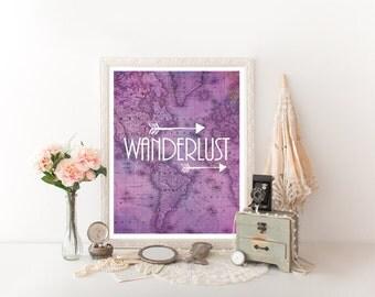 Wanderlust, Travel Quote, Travel Decor,Travel Poster, Travel Printable, Travel Art, Travel Print, Travel Digital Download 0235