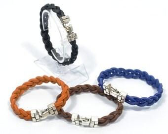 men women braided bracelet, braided leather bracelet, surfer bracelet, mens leather bracelet, men gifts, nautical jewelry, beach jewely