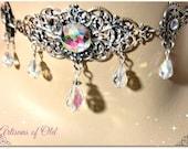 Wedding Choker, Crystal Renaissance Wedding Set, Renaissance Earrings
