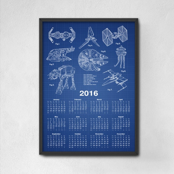 cadeau de star wars star wars calendrier 2016 par. Black Bedroom Furniture Sets. Home Design Ideas