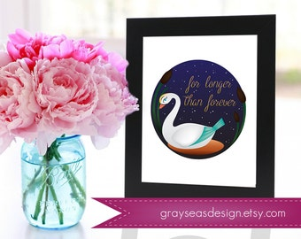 For Longer Than Forever - The Swan Princess 8x10 Print