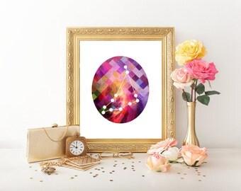 Capricorn Zodiac, Capricorn Art, Capricorn Digital Download, Capricorn Printable, Capricorn Print, Capricorn Constellation, Horoscope 0271